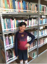 Fig 8 Visita a la Biblioteca.