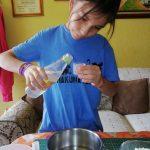 vertir 15 ml de vinagre blanco